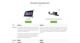 woocommerce product comparison feature - MediaCenter - Electronics Store WooCommerce Theme