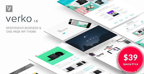 001.  large preview - Verko | Responsive Business & One Page WP Theme