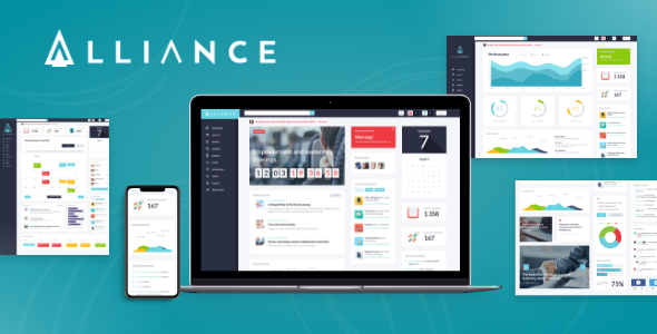 01 Alliance.  large preview - Alliance   Intranet & Extranet WordPress Theme