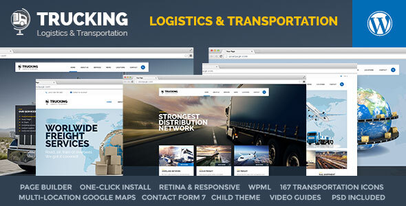 01 Preview.  large preview - Trucking - Transportation & Logistics WordPress