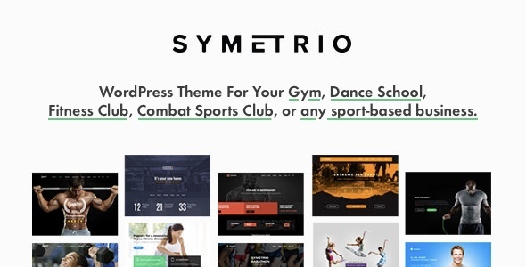 01 ThemePreview.  large preview - Symetrio - Gym & Fitness WordPress Theme