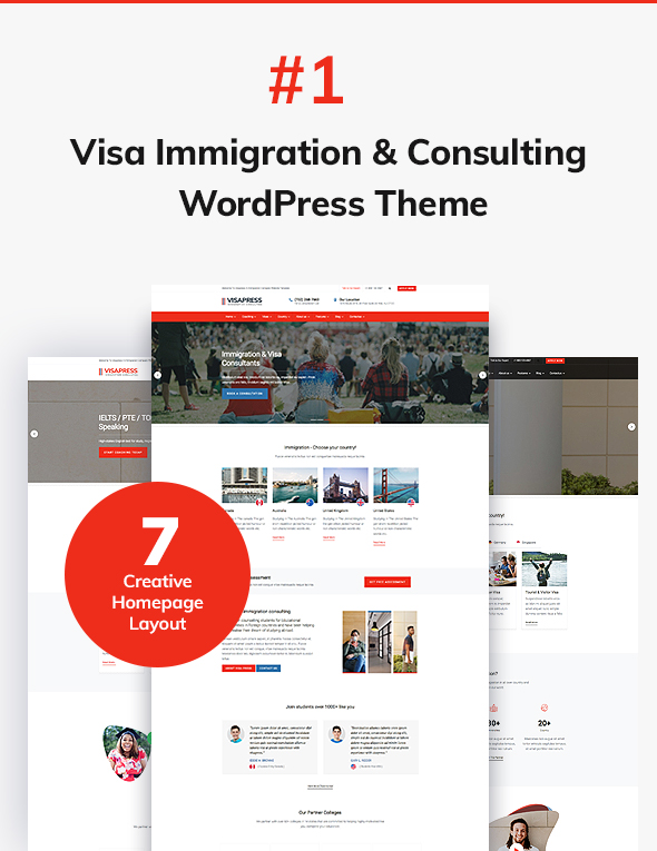 01 home page design - VisaHub - Immigration Consulting WordPress Theme