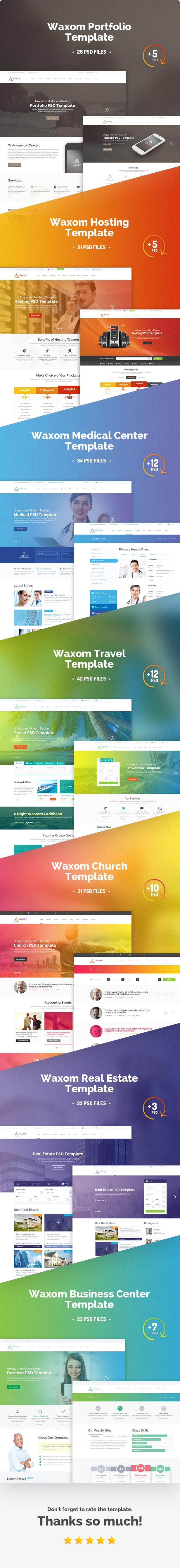 01 presentation - Waxom - Clean & Universal PSD Template
