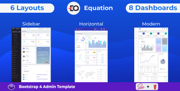 01 preview.  large preview - Equation - Responsive Admin Dashboard Template