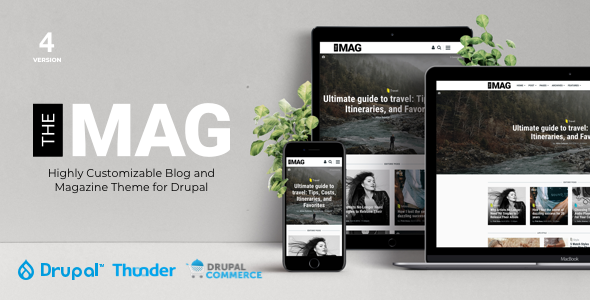 01 preview image.  large preview - TheMAG - Highly Customizable Blog and Magazine Theme for Drupal