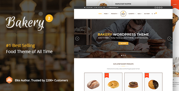 01 theme preview.  large preview - Bakery | WordPress Cake & Food Theme
