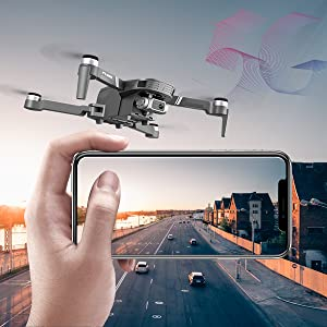 0980678a a346 4994 a10b 2f4e0aba3f9f.  CR0,0,600,600 PT0 SX300 V1    - 4DRC F4 GPS Drone with 4K Camera for Adults,2-Axis gimbal Anti-shake Camera HD FPV Live Video,Brushless Motor RC Quadcopter, Auto Return,Follow Me,Waypoint Fly,Headless Mode,Carrying Case