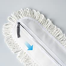 """0e34cbbd e9fb 4565 8921 6b6aa772452e.  CR0,0,300,300 PT0 SX220 V1    - Eyliden 36"""" Professional Industrial Mop, Commercial Cotton Dust Mops Broom, Telescopic Handle Residential Commercial Floor Cleaning Tools for Home Mall Hotel Office Garage (White, 36"""")"""