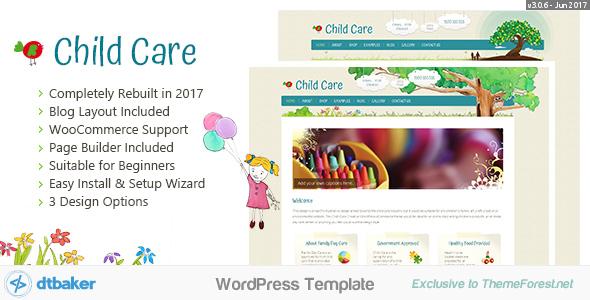 1.Creative easy Child Care Theme for WordPress.  large preview - Child Care Creative - WordPress Shop Theme