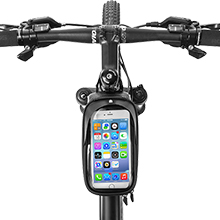 """1356374c bde6 42aa a7ca eef0f3eeb711.  CR0,0,220,220 PT0 SX220 V1    - ROCKBROS Top Tube Bike Bag Waterproof Bicycle Bag Touch Screen Bike Pouch Bike Cell Phone Holder Cycling Accessories for iPhone 12 11 7 8 Plus Xs Max Below 6.7"""""""