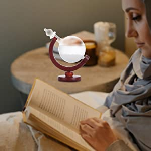 137f4d34 54a0 4a9d a0f8 6f10733dfda0.  CR0,0,1500,1500 PT0 SX300 V1    - DRESSPLUS Globe Storm Glass Weather Station with Wooden Base,Creative Fashionable Storm Glass Weather Forecaster,Home and Party Decoration (B)