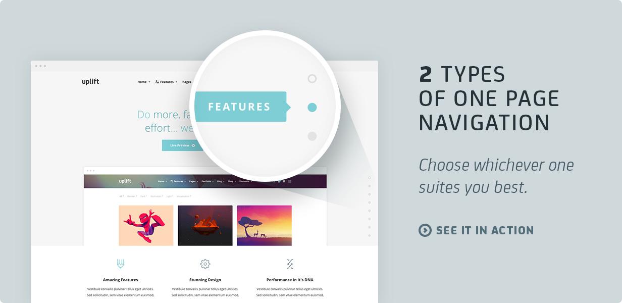15 onepagenav - Uplift - Responsive Multi-Purpose WordPress Theme