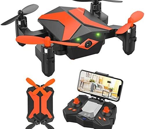 1628129492 51igniByZmL. AC  500x445 - Mini Drone with Camera for KidsBeginners, Foldable Pocket RC Quadcopterwith App Gravity Voice Control Trajectory Flight, FPV Video, Altitude Hold, Headless Mode, 360°Flip, Toys Gifts for Boys Girls