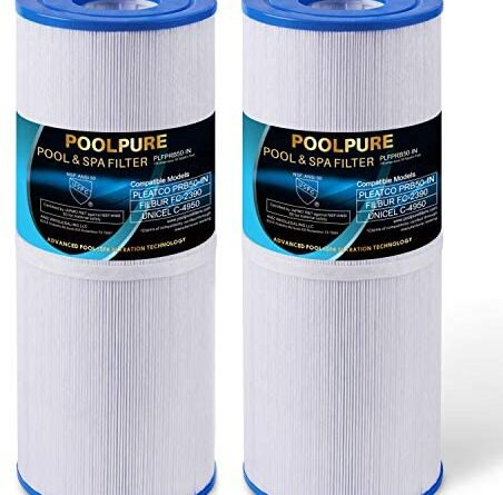 1628476251 51PPmuF4GAL. AC  452x445 - POOLPURE Spa Filter Replacement for Pleatco PRB50-IN, Unicel C-4950, Filbur FC-2390, Jacuzzi J200 Series Filter, Guardian 413-212-02, 373045, 817-5000, 5X13 Drop in Hot Tub Filter, 2 Pack