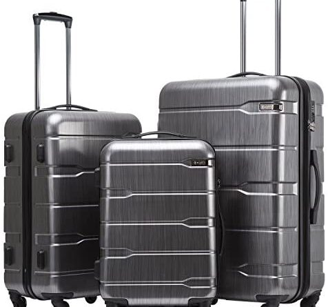 1628692671 51KIaPEYYUL. AC  476x445 - Coolife Luggage Expandable 3 Piece Sets PC+ABS Spinner Suitcase Built-In TSA lock 20 inch 24 inch 28 inch