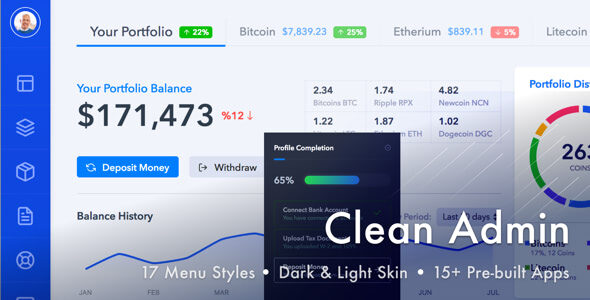 1628962386 275 preview.  large preview - Light Admin - Clean Bootstrap 4 Dashboard HTML Template