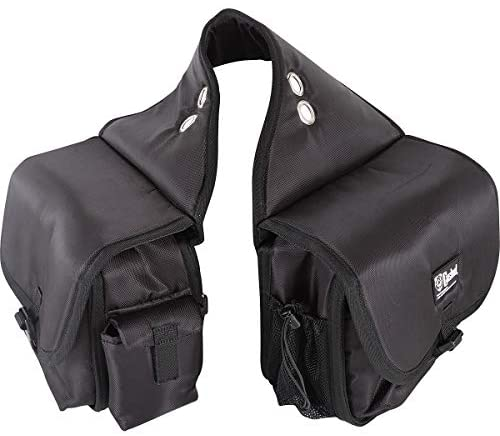 1629299448 414XQPGL6iL. AC  - Cashel Quality Deluxe Horse Saddlebag, Padded Pockets Color: Black