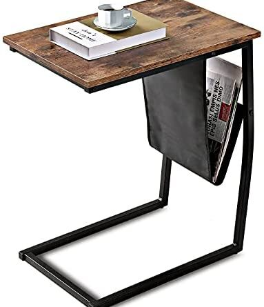 1629906420 41w8VJ8UMHS. AC  383x445 - Bonzy Home Snack Side Table with Storage C Shaped End Table for Sofa Couch,Living Room,Bedroom & Small Spaces