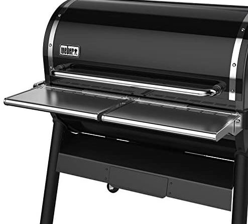 1630209406 41dbS6CKFML. AC  494x445 - Weber 7003 SmokeFire EX6 Folding Front Shelf, Silver