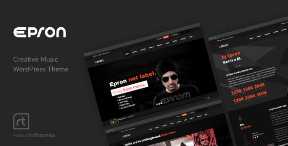 1 epron.  large preview - Epron - Music Theme for WordPress