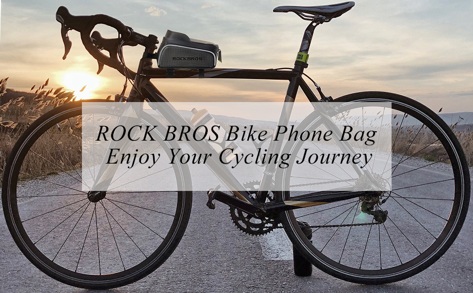 """22301f91 c908 488f 9f73 213e2223bbd1.  CR0,0,970,600 PT0 SX970 V1    - ROCKBROS Top Tube Bike Bag Waterproof Bicycle Bag Touch Screen Bike Pouch Bike Cell Phone Holder Cycling Accessories for iPhone 12 11 7 8 Plus Xs Max Below 6.7"""""""