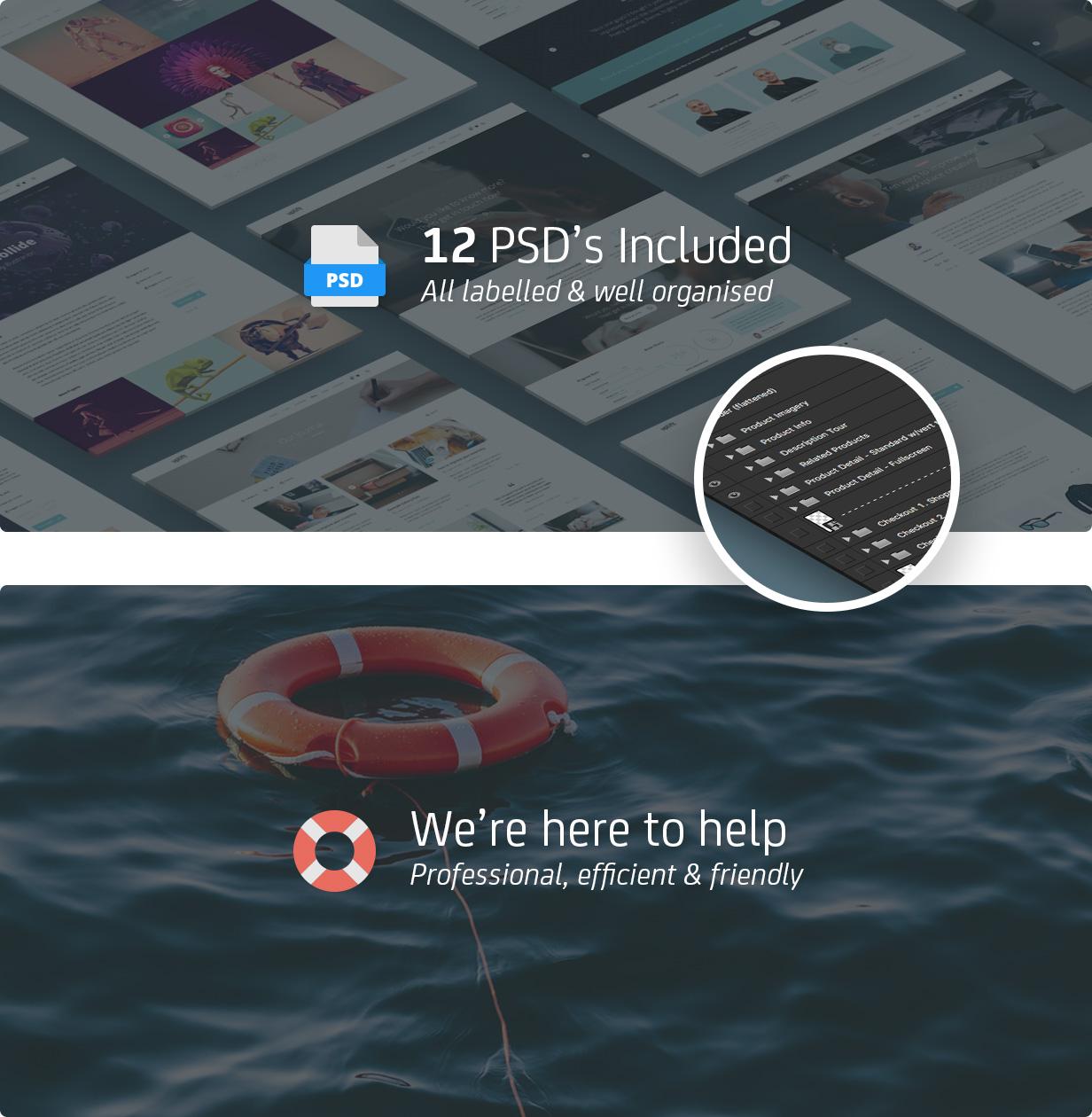 22 psds support - Uplift - Responsive Multi-Purpose WordPress Theme