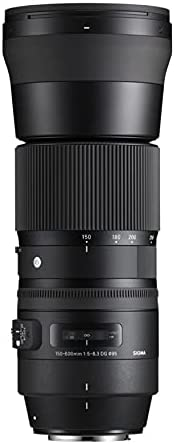 31CgV9do+XS. AC  - Sigma 150-600mm 5-6.3 Contemporary DG OS HSM Lens for Canon DSLR Cameras USB Dock and Two 64GB SD Card Bundle (7 Items)