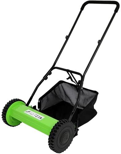 31OcpY9HzpS. AC  - Olenyer 16-Inch Quiet Cut Push Reel Lawn Mower with 5-Blade Push Reel,Green