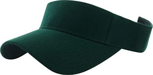 31sSe3R7DfL. AC  - DealStock Plain Men Women Sport Sun Visor One Size Adjustable Cap (29+ Colors)