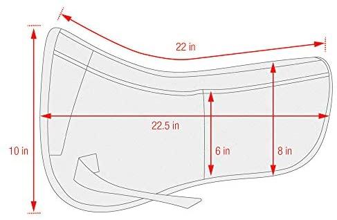410DyLgAj5L. AC  - ECP Equine Comfort Products Correction Half Saddle Pad