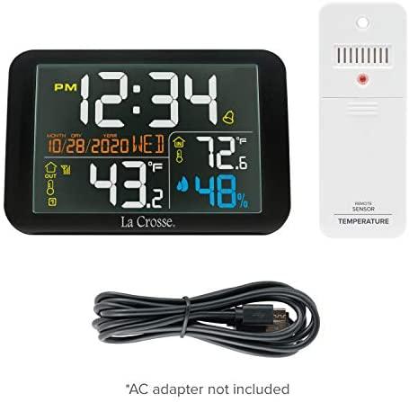 41CgOkl+q6L. AC  - La Crosse Technology 308-66677-INT Color Wireless Weather Station, Black