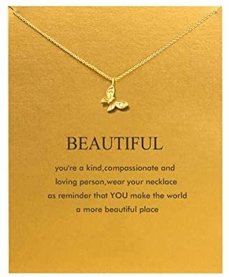 41IqWIrfZ4L. AC  - Baydurcan Friendship Anchor Compass Necklace Good Luck Elephant Pendant Chain Necklace with Message Card Gift Card