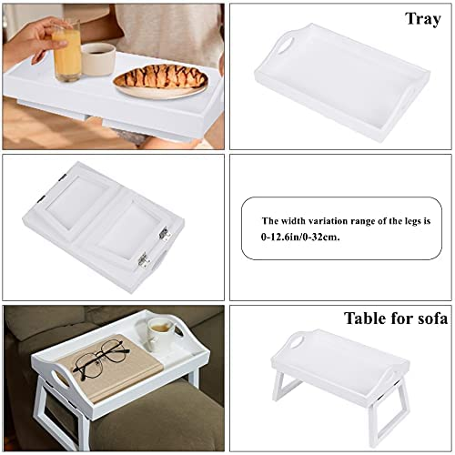 41KTwZHwS1S. AC  - TRSPCWR 2pcs Arm Clip Table, Couch Arm Table, 7.8x11.8in, Arm Rest Table, Armrest Table Tray, Sofa Armrest Tray, Side Table Tray for Drinks, Portable Remote Control, Snacks Holder, Wooden, White