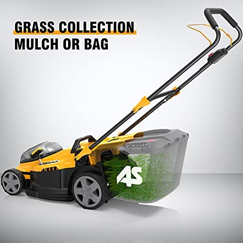 41Td SUQWOS. AC  - AS 40V 16'' Cordless Lawn Mower with 5Ah Battery and Charger ,3-in-1 Electric Lawn Mower, 7 Adjustable Heights,Can Work for up to 100 Minutes,Ideal for Revitalizing Small to Mid-Sized Lawn…