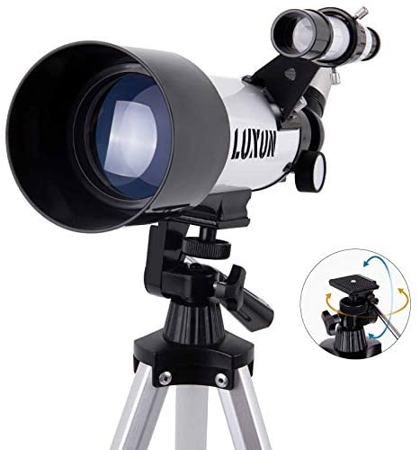 41a5wAhmuvL. AC  - LUXUN Telescope for Astronomy Beginners Kids Adults, 70mm Aperture 400mm Astronomical Refracting Portable Telescope - Travel Telescope with Phone Adapter Carry Bag