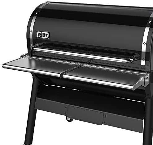 41dbS6CKFML. AC  - Weber 7003 SmokeFire EX6 Folding Front Shelf, Silver
