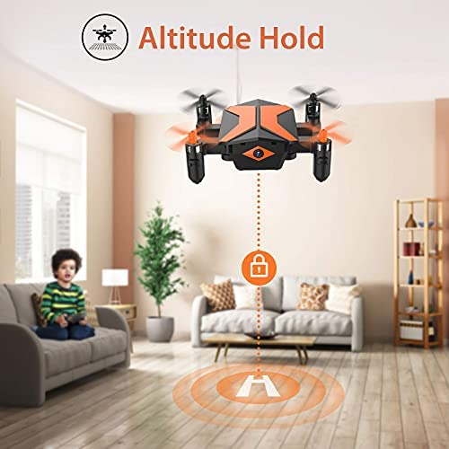 41mCV0xpnxS. AC  - Mini Drone with Camera for KidsBeginners, Foldable Pocket RC Quadcopterwith App Gravity Voice Control Trajectory Flight, FPV Video, Altitude Hold, Headless Mode, 360°Flip, Toys Gifts for Boys Girls