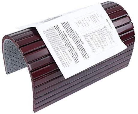 41tpzEVbz5L. AC  - 7Penn Natural Bamboo Sofa Armrest - Anti-Slip Couch Coaster Drink Holder Table for Squared Edge Armrests Mahogany Finish