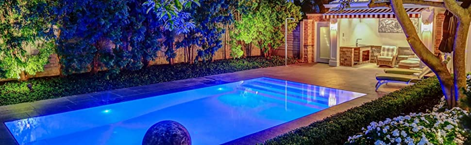 47c906de 92d8 4a44 b4c2 063b693df76a.  CR0,310,2400,742 PT0 SX970 V1    - Waterproof Submersible Led Pool Lights Underwater, 16 Colors Pond Lights with Remote, Suction Cups & Magnet, Halloween Decor Lamp for In-ground Pool Bathtub Fish Tank Christmas Decor Lights (4 Pack)