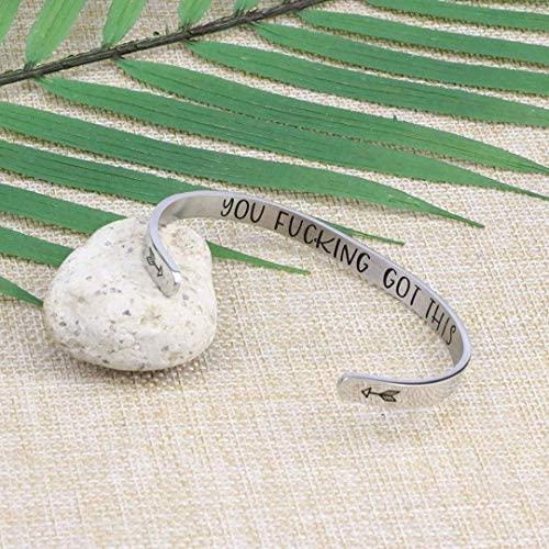 510IfiJ3qSL. AC  - Joycuff Bracelets for Women Personalized Inspirational Jewelry Mantra Cuff Bangle Friend Encouragement Gift for Her