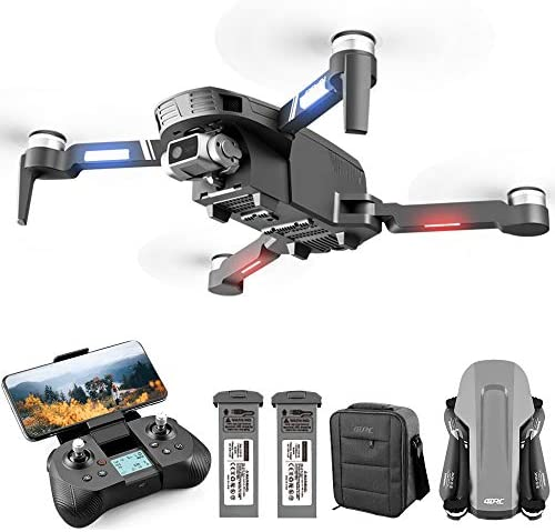 513LbxNvxwL. AC  - 4DRC F4 GPS Drone with 4K Camera for Adults,2-Axis gimbal Anti-shake Camera HD FPV Live Video,Brushless Motor RC Quadcopter, Auto Return,Follow Me,Waypoint Fly,Headless Mode,Carrying Case