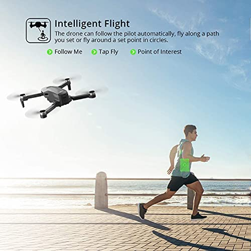 514mkQfkgNS. AC  - 4DRC F4 GPS Drone with 4K Camera for Adults,2-Axis gimbal Anti-shake Camera HD FPV Live Video,Brushless Motor RC Quadcopter, Auto Return,Follow Me,Waypoint Fly,Headless Mode,Carrying Case