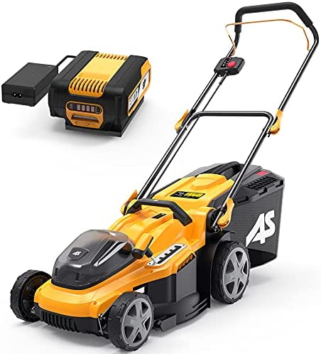 5164cS8vCiS. AC  - AS 40V 16'' Cordless Lawn Mower with 5Ah Battery and Charger ,3-in-1 Electric Lawn Mower, 7 Adjustable Heights,Can Work for up to 100 Minutes,Ideal for Revitalizing Small to Mid-Sized Lawn…