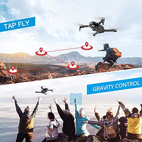 516WU2Ilg8S. AC  - 4DRC F4 GPS Drone with 4K Camera for Adults,2-Axis gimbal Anti-shake Camera HD FPV Live Video,Brushless Motor RC Quadcopter, Auto Return,Follow Me,Waypoint Fly,Headless Mode,Carrying Case