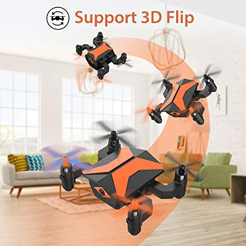 519JmEvmy8L. AC  - Mini Drone with Camera for KidsBeginners, Foldable Pocket RC Quadcopterwith App Gravity Voice Control Trajectory Flight, FPV Video, Altitude Hold, Headless Mode, 360°Flip, Toys Gifts for Boys Girls