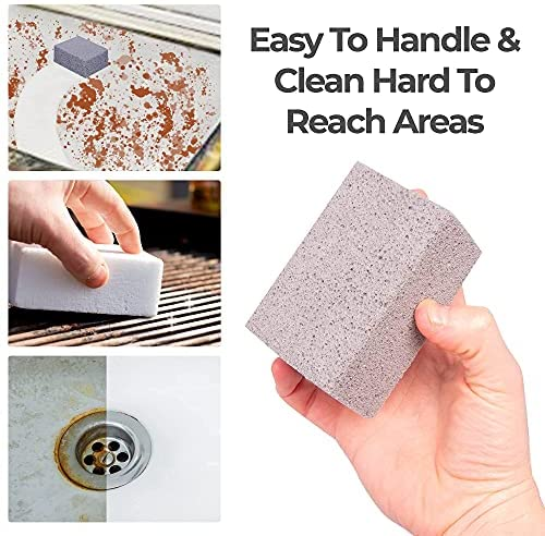 51Fq O2ZLYS. AC  - Homeflowz Grill Brick 4 Pack - Grill Cleaning Bricks for BBQ - Refined Pumice Grill Stone - Griddle Brick for Safe Effective Non Abrasive Cleaning - Grill Brick for Flat Top Grills Grates Pool & More