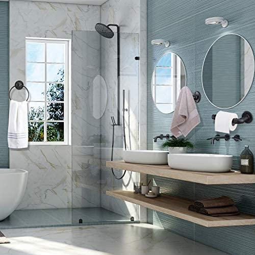 51GKKJD+T2L. AC  - Industrial Pipe Towel Rings Iron Old Towel Ring Holder for Bathroom, Black