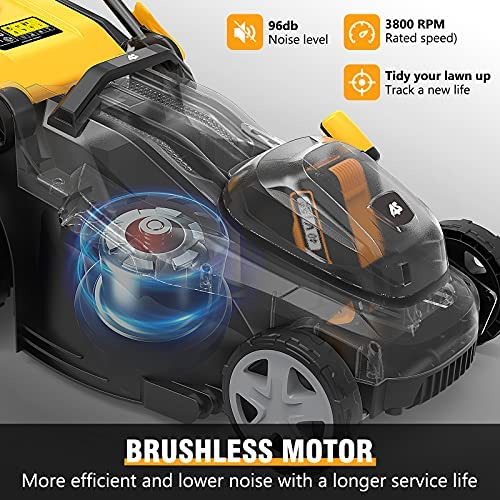 51Iw 8q4mJS. AC  - AS 40V 16'' Cordless Lawn Mower with 5Ah Battery and Charger ,3-in-1 Electric Lawn Mower, 7 Adjustable Heights,Can Work for up to 100 Minutes,Ideal for Revitalizing Small to Mid-Sized Lawn…