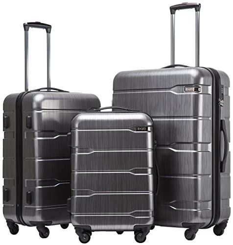 51KIaPEYYUL. AC  - Coolife Luggage Expandable 3 Piece Sets PC+ABS Spinner Suitcase Built-In TSA lock 20 inch 24 inch 28 inch