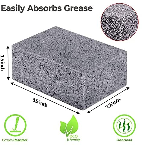51Q7SDFmwfS. AC  - Homeflowz Grill Brick 4 Pack - Grill Cleaning Bricks for BBQ - Refined Pumice Grill Stone - Griddle Brick for Safe Effective Non Abrasive Cleaning - Grill Brick for Flat Top Grills Grates Pool & More